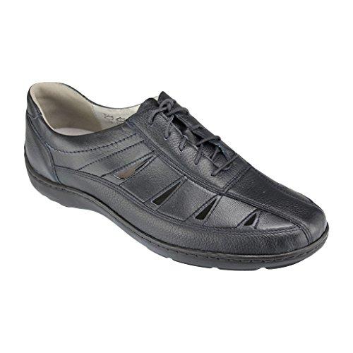 WALDLÄUFER 496020 244 002 Damen Schnürhalbschuhe - breite Schuhe Bleu rkZhwnhfSb