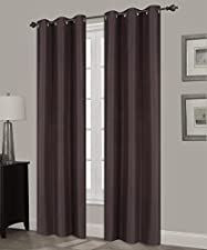 GorgeousHome (N32) 1 Solid Window Curtain Silver Grommet Top Foam Lined Backing Insulated Thermal Blackout Drape Panel (84