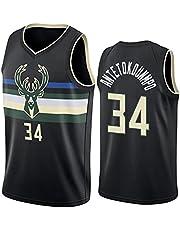 Basketball Jerseys, Milwaukee Bucks #34 Alphabet Brother Basketball Uniform City Edition Jerseys Mesh Quick-Drying NBA Jersey