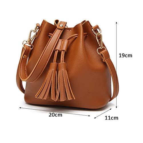 quality design 348ec 0b3a6 Bandolera La Borla Bag Mujer Compras Portátil Seasons Bolso Manera De  Bucket Negro Citas Four Pu E4wqfAdx