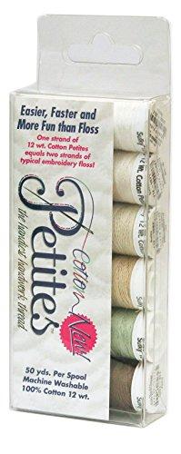 - Sulky Sampler Cotton Petites, 12-watt, Neutrals Assortment, 6-Pack