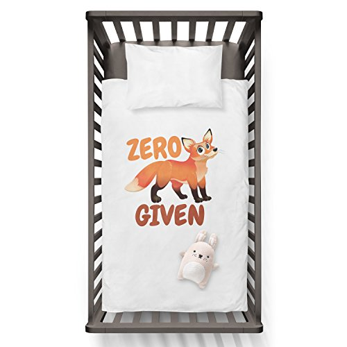 Zero Fox Given Funny Humor Hip Baby Duvet /Pillow set,Toddler Duvet,Oeko-Tex,Personalized duvet and pillow,Oraganic,gift by Jobhome