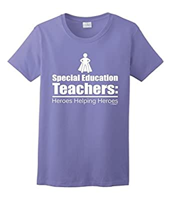 Special Education Teacher Gift Heroes Helping Ladies T-Shirt Large Violt