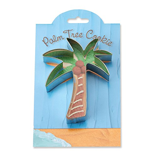 Palm Tree Cookie - Palm Tree Cookie and Fondant Cutter - Ann Clark - 4.5 Inches - US Tin Plated Steel