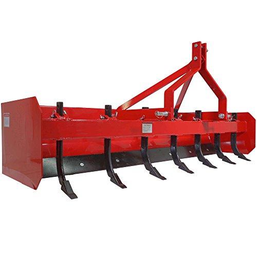 (Titan 7' Box Blade Tractor Attachment Category 1 Cat 0 Scarifier Shank Teeth )
