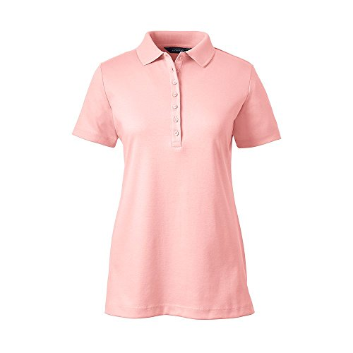 Womens xs pink polo shirt for Lands end logo shirts