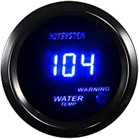 HOTSYSTEM 2 52mm Blue Digital Water Temp Temperature ℉ Gauge for Car Motor