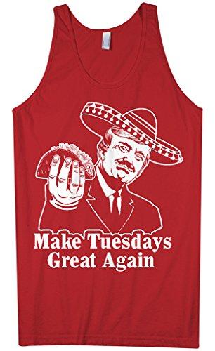 Threadrock Mens Make Tuesdays Great Again Tank Top Xl Red