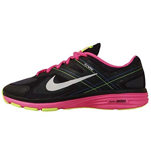 Nike Women's Dual Fusion TR 2 Black/Mtlc Pltnm/Hypr Pnk/Vlt Training Shoe 7.5 Women US