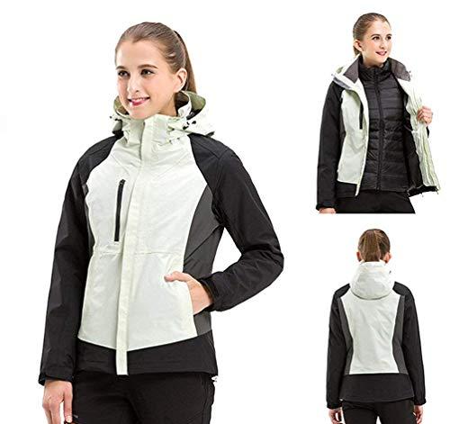 Donna Softshell Uomo Escursionismo Giacche large Da Oudan Per Alpinista E Viaggio Piumini Camicie women Impermeabili X White Fodera colore Dimensione wqRYtwWX