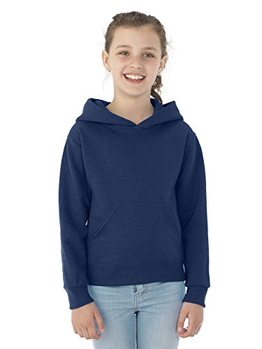 Jerzees Youth NuBlend Hooded Pullover Sweatshirt, J Navy, Small (Pullover Navy Hooded Us Sweatshirt)