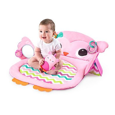 Kids II Prop & Play Tummy Timeフクロウマットピンクで楽しいとEngagingデザインはPerfect for Engagingベビーwith Crinkle、サウンド、Rattle Teether、baby-safeミラー、Taggiesサテンループ、プロップ枕、and More   B06XQN56P5