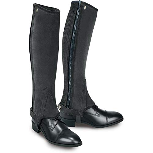 - Tredstep Ireland Original Suede Half Chaps - Black Calf 15/Height 16