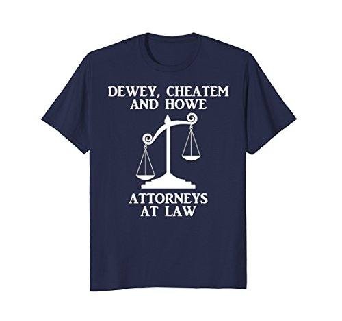 Mens Dewey Cheatem Howe Attorneys At Law Scales Of Justice Shirt 2XL - Shop Justice At