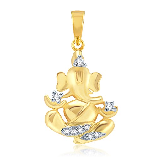 Vk Jewels Mangal Murti Gold And Rhodium Plated Pendant For Women – Ps1053G [Vkp1053G]