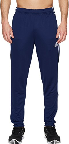 adidas Mens Soccer Core 18 Training Pants, Dark Blue/White, Medium
