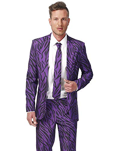 Suitmeister Printed Suits for Men Comes with Jacket, Pants and Tie with Fun Designs