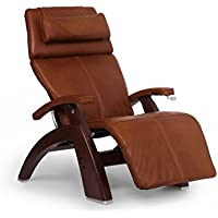 Perfect Chair PC-420 Premium Full Grain Leather Hand-Crafted Zero-Gravity Chestnut Manual Recliner, Cognac