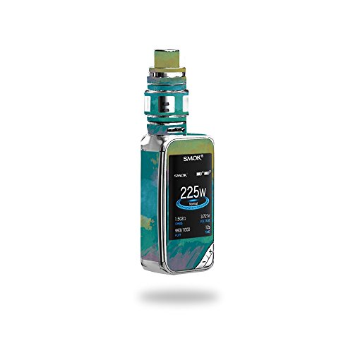 MightySkins Skin Compatible with SMOK X-Priv 225W - Watercolor Blue | Protective, Durable, and Unique Vinyl Decal wrap Cover | Easy to Apply, Remove, and Change Styles | Made in The USA