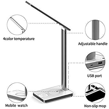 Amazon Com Led Desk Lamp With Qi Wireless Charger Pad
