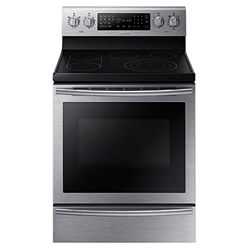 Samsung 30 in. 5.9 cu. ft. Electric Range with Self-Cleaning True Convection Oven in Stainless Steel