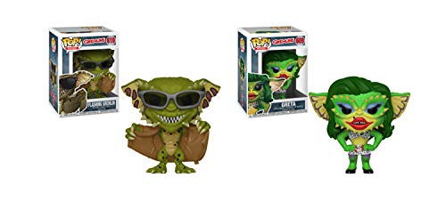 (Funko Pop! Gremlins Bundle of 2: Girl or Drag Queen Greta and Flashing Gremlin)