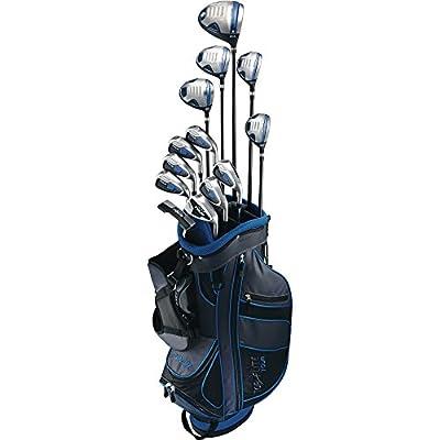 Top-Flite Golf Senior Men's Tour 17 Piece Complete Box Bag Set Right Hand Graphite Black Blue