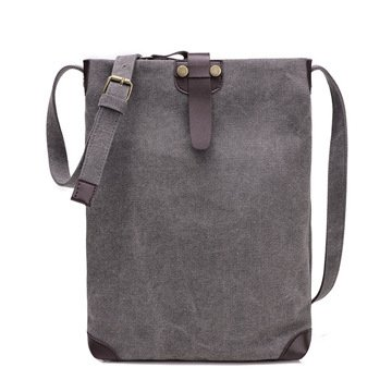 Meoaeo El Lienzo Original Bolsas Son Coreanos All-Match Retro Beige Nuevo Messenger gray
