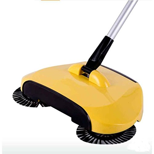 MuLuo 3 In 1 Hand Push Sweeper Lazy Automatic Hand-propelled 360 Degree Rotating Magic Broom Without Electricity Handle Household Cleaning Tool Dustpan Trash Bin blue by MuLuo (Image #3)