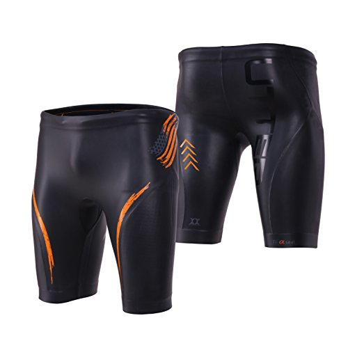 UTTER Elitepro Jammer E2 Unisex 5mm Smooth Skin Triathlon Surfing Swimming Pants with Yamamoto SCS Neoprene, Black XL by Azbro