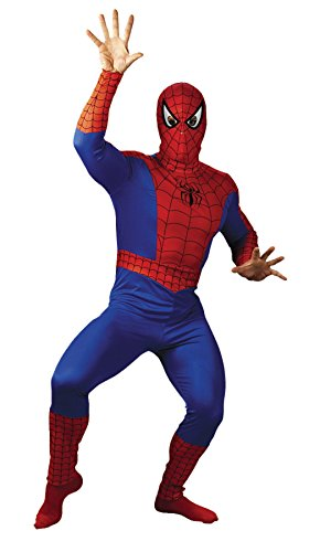 UHC Men's Spiderman Marvel Superhero Halloween Fancy Costume, Plus (50-52) (Plus Size Marvel Costumes)