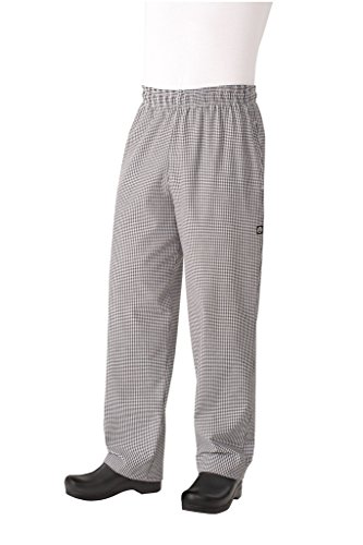 Chef Works Men's Essential Baggy Chef Pant, Small Check, - Pants Checked Chef