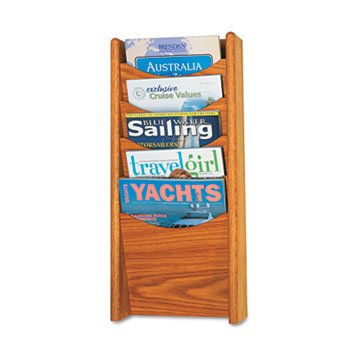 SAF4330MO - Safco Solid Wood Wall-Mount Literature Display Rack