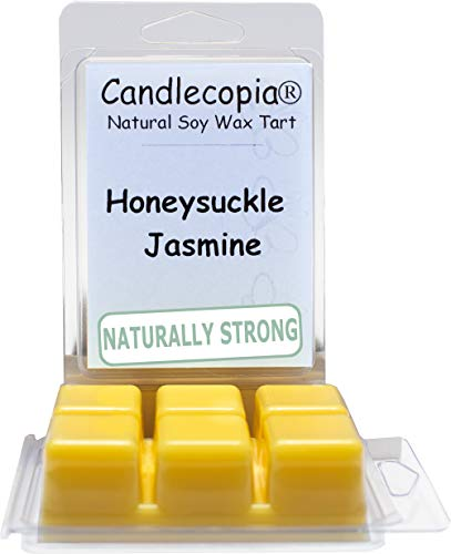 Candlecopia Honeysuckle Jasmine Strongly Scented Hand Poured Vegan Wax Melts, 12 Scented Wax Cubes, 6.4 Ounces in 2 x 6-Packs