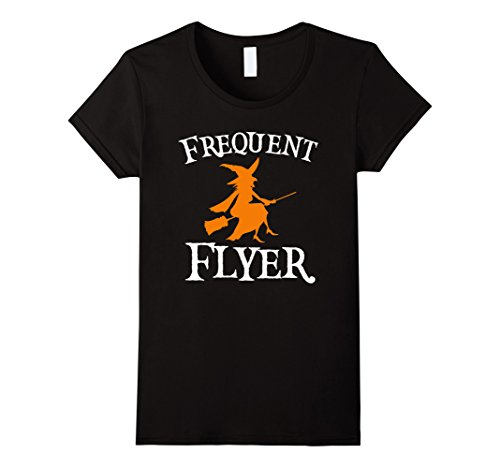 Womens Frequent Flyer T-Shirt Perfect Halloween Tee Large (Ladies Halloween Shirts)