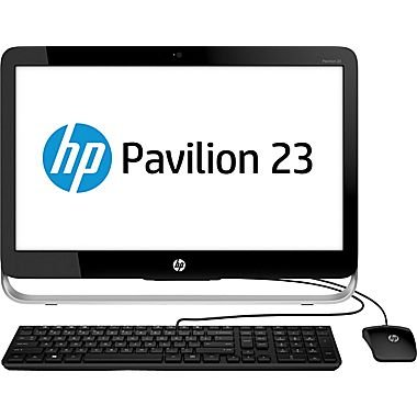"2017 HP Pavilion 23"" HD All-In-One AIO Desktop Computer, Intel Dual Core Pentium G3220T 2.6Ghz CPU, 4GB RAM, 500GB HDD, DVDRW, USB 3.0, Webcam, RJ-45, Windows 10 (Certified Refurbished)"