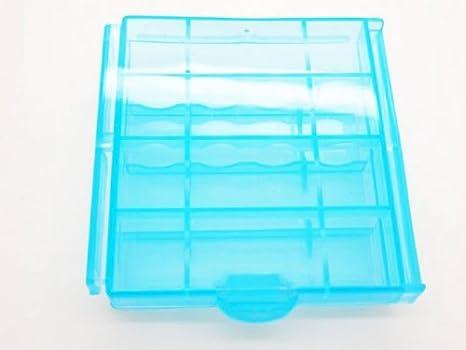 Caja Estuche Plástico para Pila Batería AA AAA Portapila Portabateria Recargable 4000a: Amazon.es: Electrónica