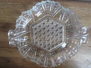 Windsor Diamond and Bubble1880 Handled Candy Dish