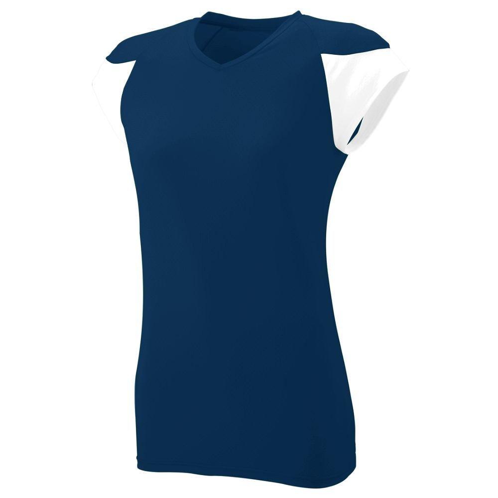 Augusta SportswearレディースMVPジャージー B00HJTLX92 XL|ネイビー/ホワイト ネイビー/ホワイト XL