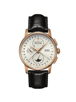Mido Baroncelli Silver Dial Moonphase Chronograph Automatic Mens Watch M86073M142