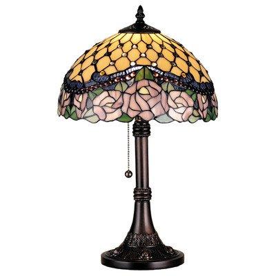 (Victorian Tiffany Nouveau Jeweled Rose 19.5