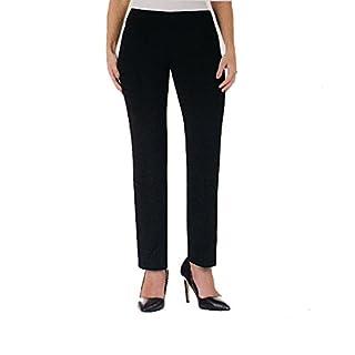 Hilary Radley Womens Point Pants, Stretch, Black, 6