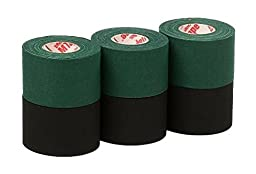 Mueller Athletic Tape Sports Tape, Green and Black 6 rolls