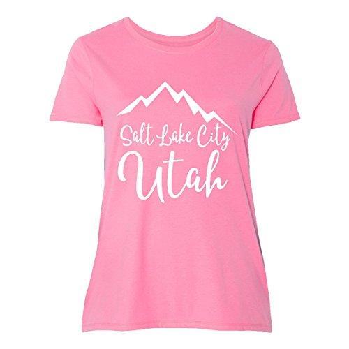 inktastic Salt Lake City Utah Women's Plus Size T-Shirt 4 (26/28) - Slc Place Fashion