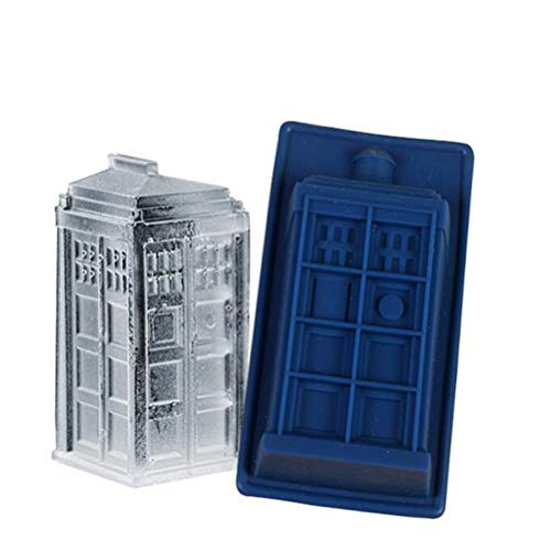 Cute Funny DIY 3D Doctor Who Dalek & Tardis Silicone Mold Making Ice Blocks Candy Fondant Chocolates Soaps Cakes Mousse Jelly Candles (Doctor Who Baking Mold)