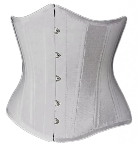 Alivila.Y Fashion Womens Sexy Vintage Underbust Waist Training Corset 2686A-White-S (Bustier White Corset)