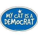 Prismatix Decal Cat and Dog Magnets, My Cat Is Democrat