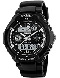 Digital Watch Sports Waterproof Multifunctional Led Watches with Alarm,Wrist Watch for Both Men and Boys Beat Gifts for Them