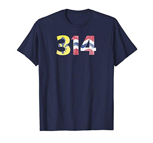 St. Louis (STL) Flag- Fleur de lis 314 Vintage T-Shirt