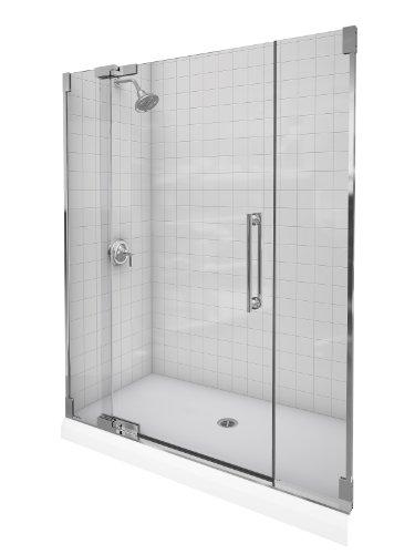 Kohler K-705717-L-SHP Purist Heavy Glass Pivot Shower Door, 57 1/4